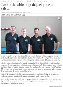 Tennis de table _ top départ pour la saison - 27_09_2014 - LaDépêche.fr
